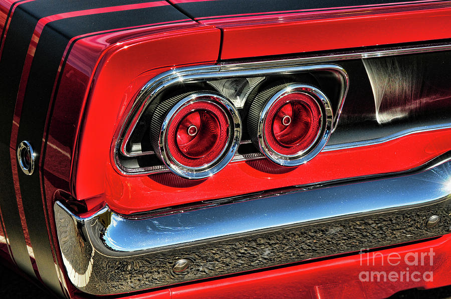 Dodge Charger Tail Lights >> 1968 Dodge Charger Rt Tail Lights Photograph By Paul Ward