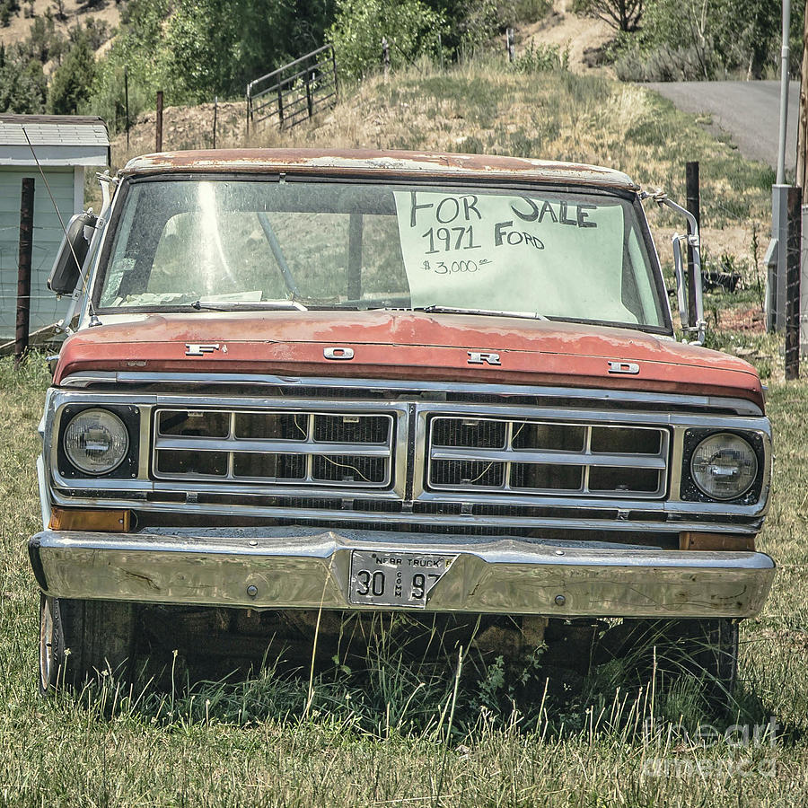 Ford Photograph - 1971 Ford Pickup Truck For Sale In Utah by Edward Fielding