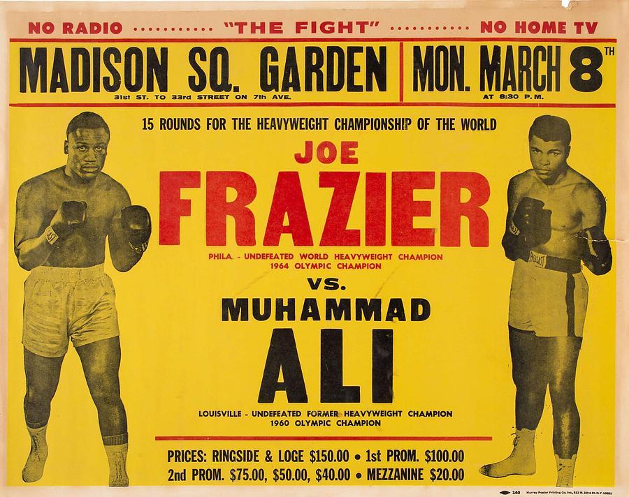 1971 Muhammad Ali Vs Joe Frazier I On Site Fight Poster Painting
