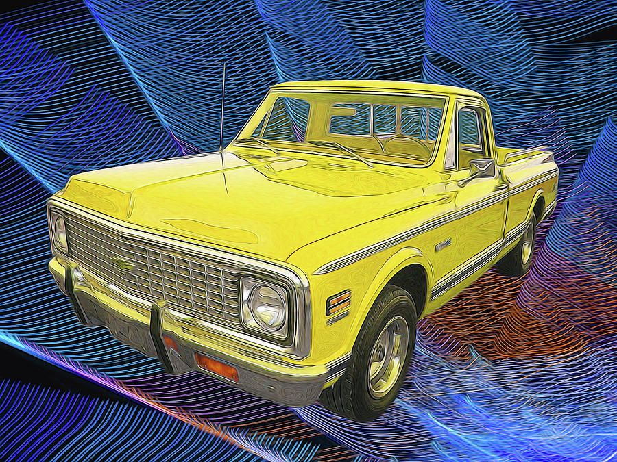 1972 Chevy Pickup Truck Digital Art By Rick Wicker