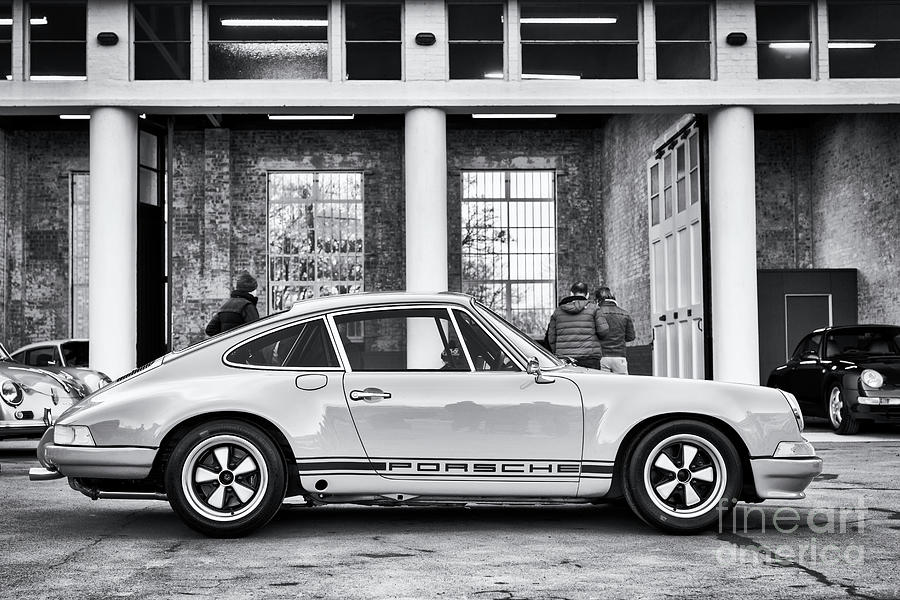 1972 Photograph - 1972 Porsche 911 Monochrome by Tim Gainey
