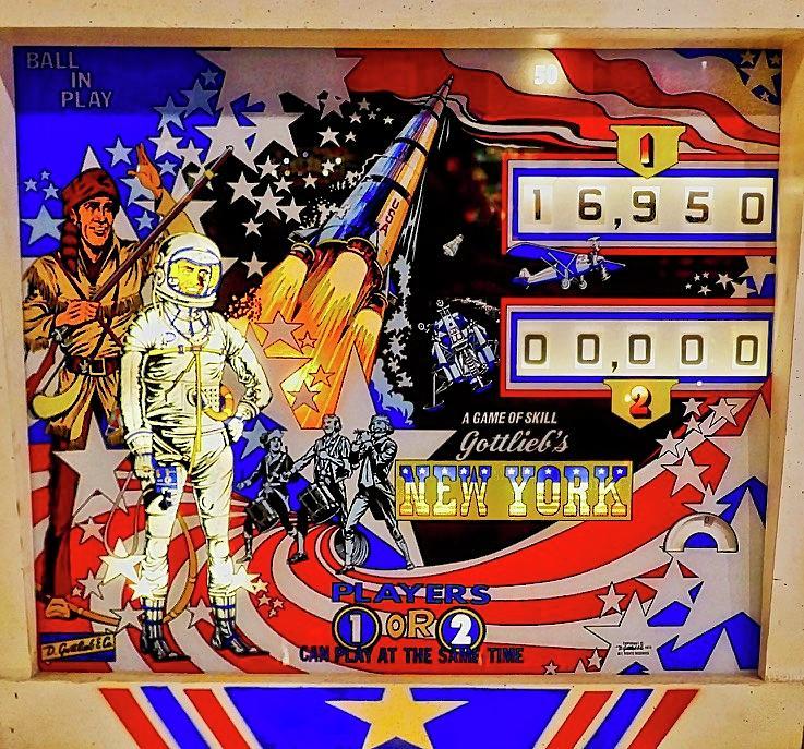 1976 New York Pinball Machine by Joan Reese