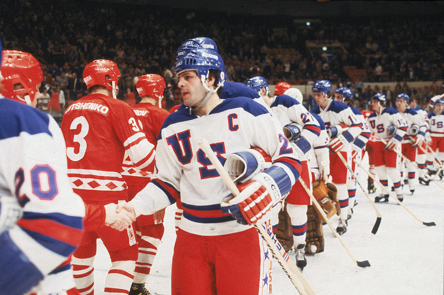 1980 Exhibition Game Ussr V Usa Photograph by B Bennett