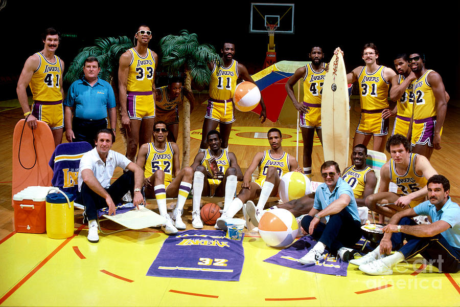 1984 Nba Championship Los Angeles Lakers Photograph by Andrew D. Bernstein
