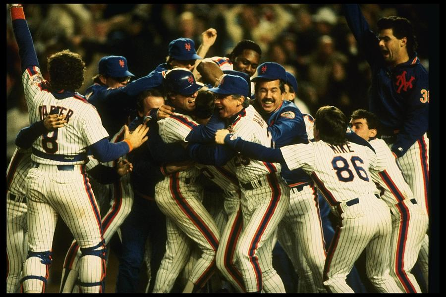 1986 World Series Mets Photograph by T.g. Higgins
