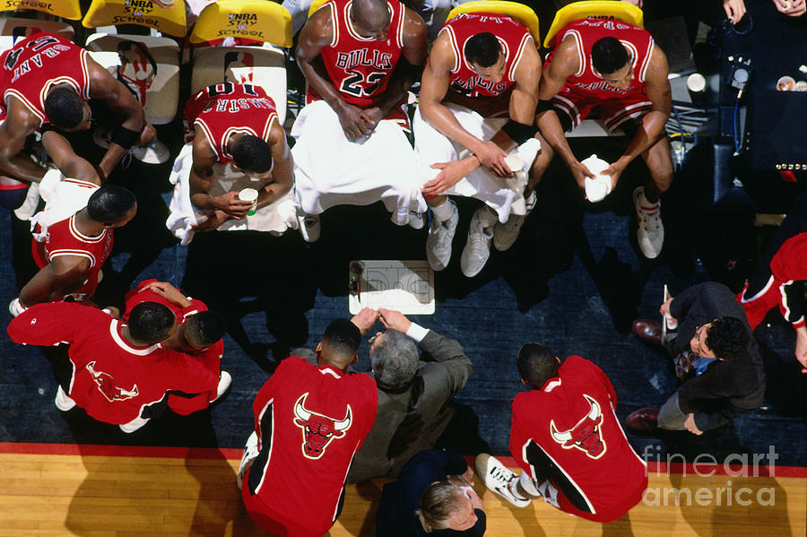 1992 Nba Finals Portland Trailblazers Photograph by Brian Drake