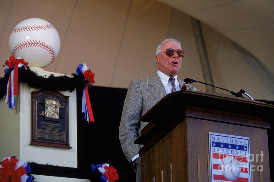 1995 Cooperstown Hall Of Fame Inductions Photograph by Rich Pilling