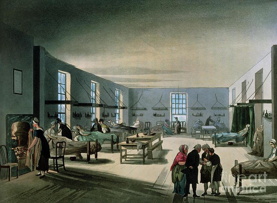 Ward Photograph - 19th Century Maternity Ward by Jean-loup Charmet/science Photo Library