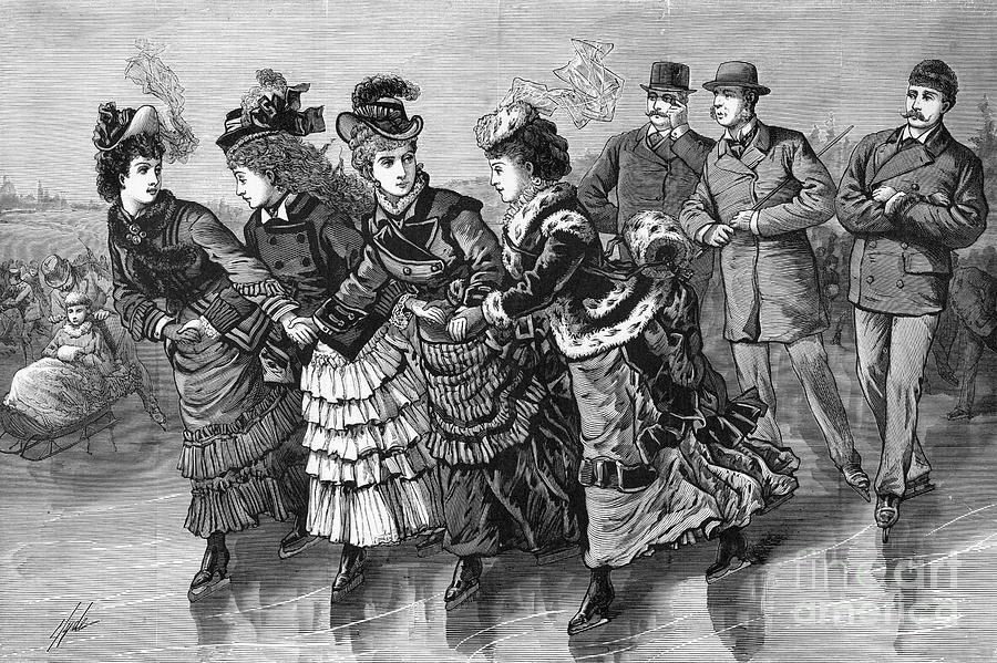 19th-century Print Of Skaters Photograph by Bettmann