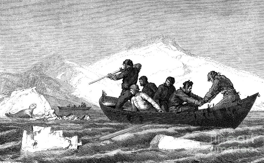 19th Century Photograph - 19th Century Seal Hunters by Collection Abecasis/science Photo Library