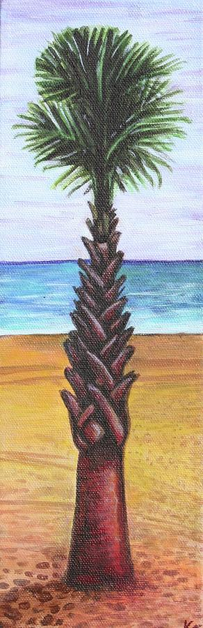Palm Tree Painting - 1st Street Palm by Kate Fortin