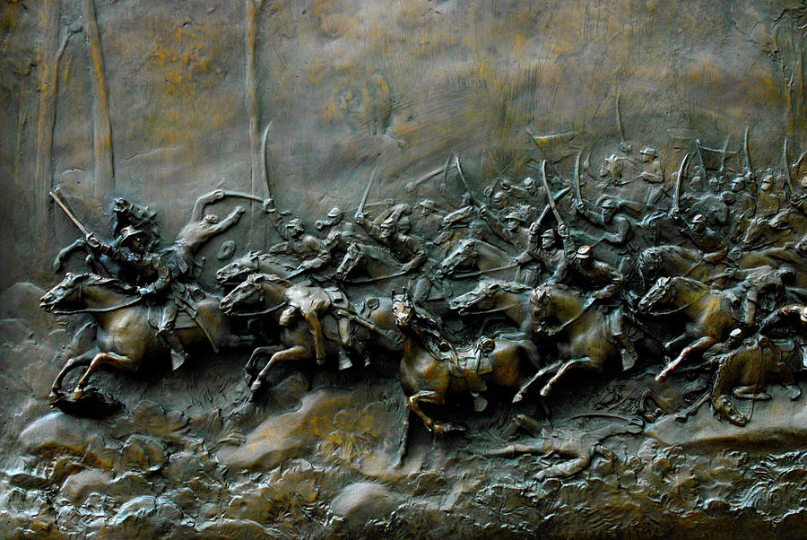 1st Vermont Cavalry Charge  by Paul W Faust - Impressions of Light