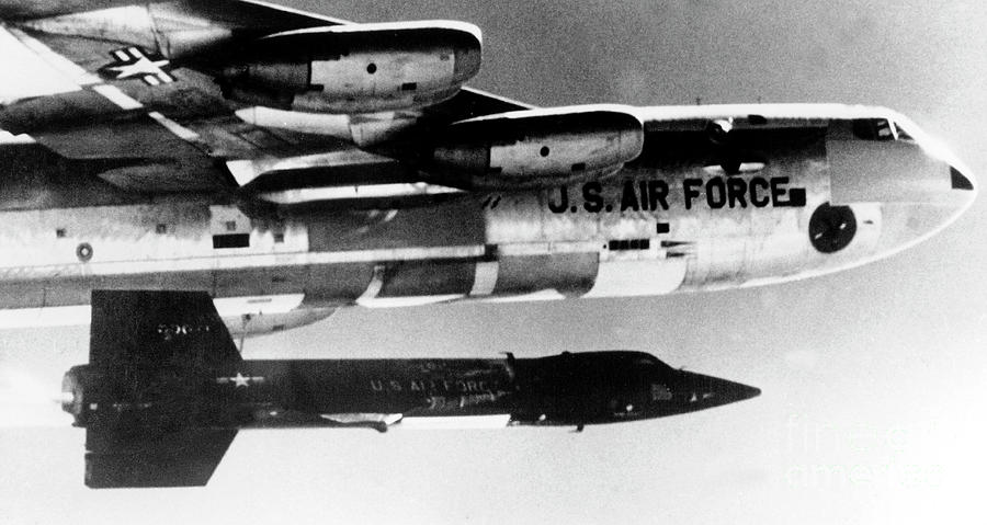 Aircraft Photograph - 1x15 Rocket Plane Launched From The B52 Carrying It, 1962 by American School