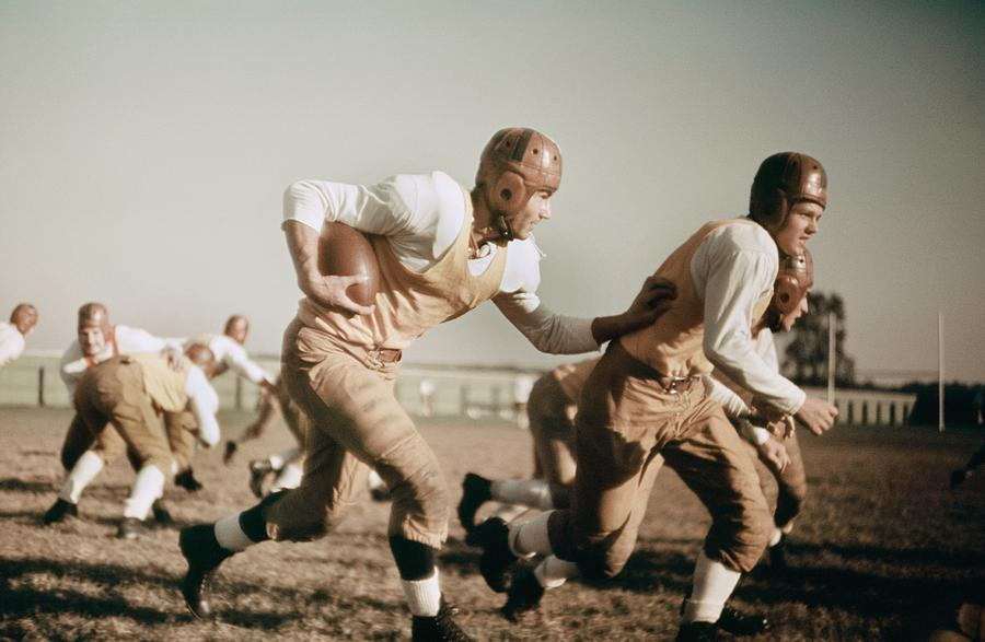 1930s High School Football Photograph by Michael Ochs Archives