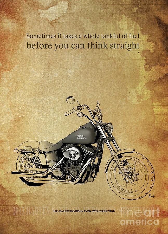 2013 Harley Davidson Fxdb Dyna Street Bob Original Artwork