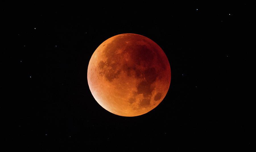 A Total Lunar Eclipse Spawns Blood Photograph by Matt Cardy