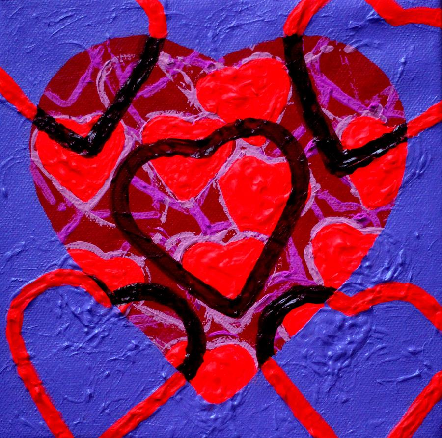 Abstract Painting - Abstract Heart  by John  Nolan