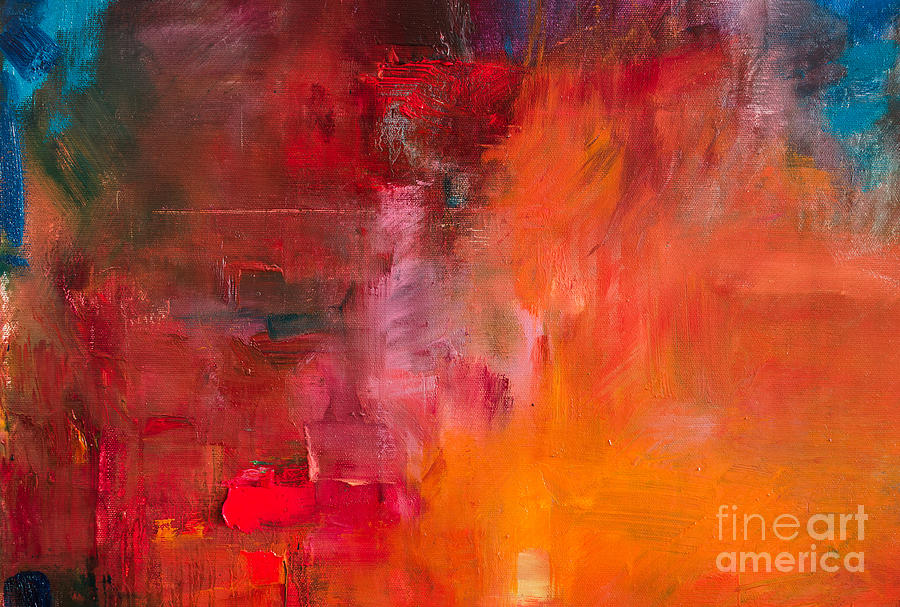 Beauty Digital Art - Abstract Oil Painting Background. Oil by Anton Evmeshkin