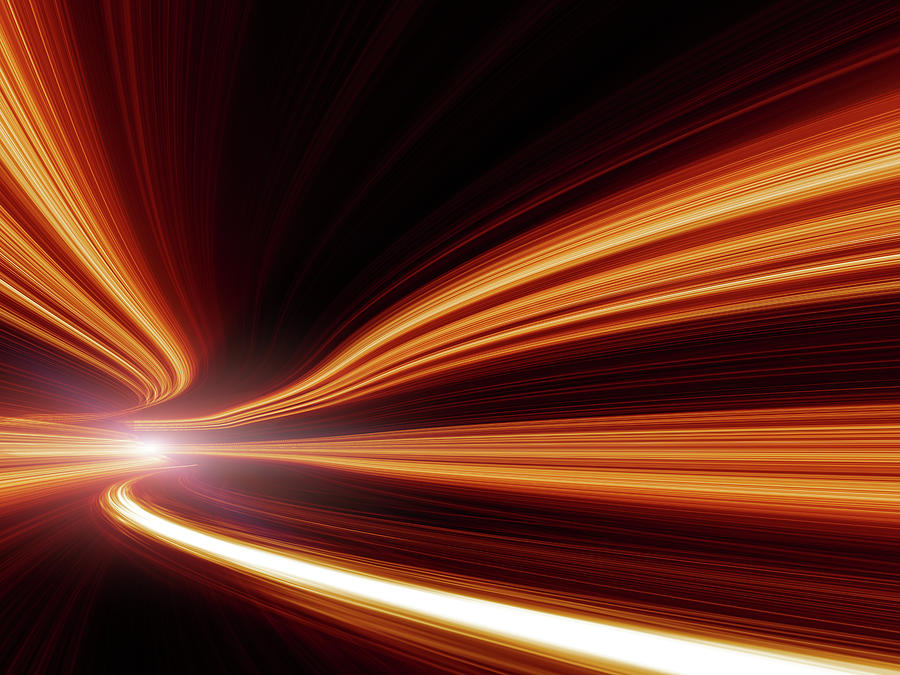 Abstract Speed Motion In Highway Tunnel Photograph by Nadla