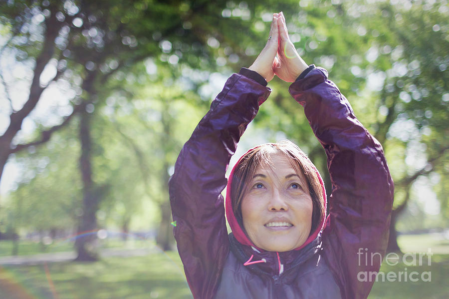 Active Seniors Photograph - Active Senior Woman Exercising 2 by Caia Image/science Photo Library