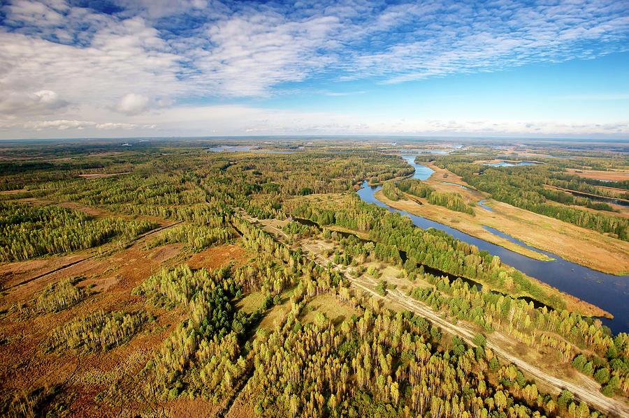 Aerial Of Pripyat River, Ukraine Photograph by James Christensen