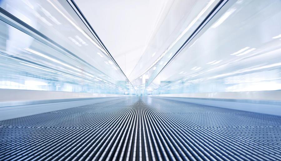 Airport Walkway Photograph by Nikada