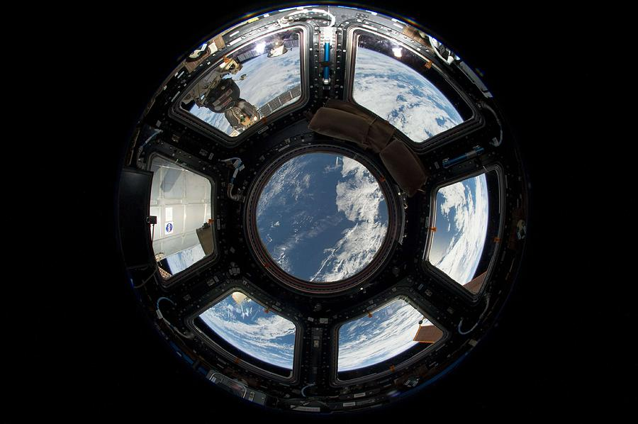 Science Painting - An Astronaut S View From Station by Celestial Images