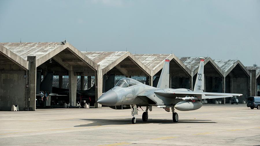 Japan Photograph - An F-15 Eagle At Kadena Air Base, Japan 2 by Stocktrek Images