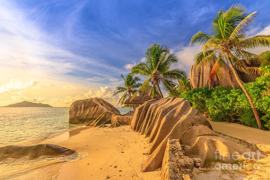 Anse Source dArgent sunset by Benny Marty