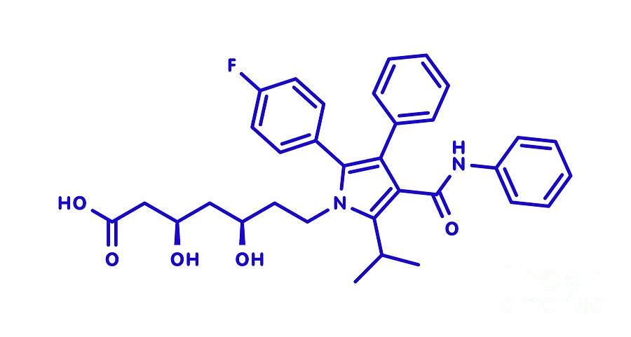 Atorvastatin Photograph - Atorvastatin Cholesterol Lowering Drug by Molekuul/science Photo Library