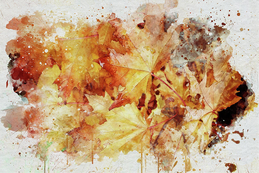 Autumn Leaves Abstract by Marilyn Wilson