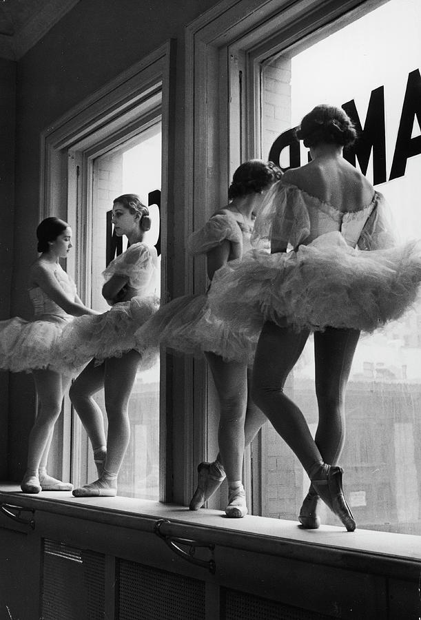 Ballerinas Standing On Window Sill In Photograph by Alfred Eisenstaedt