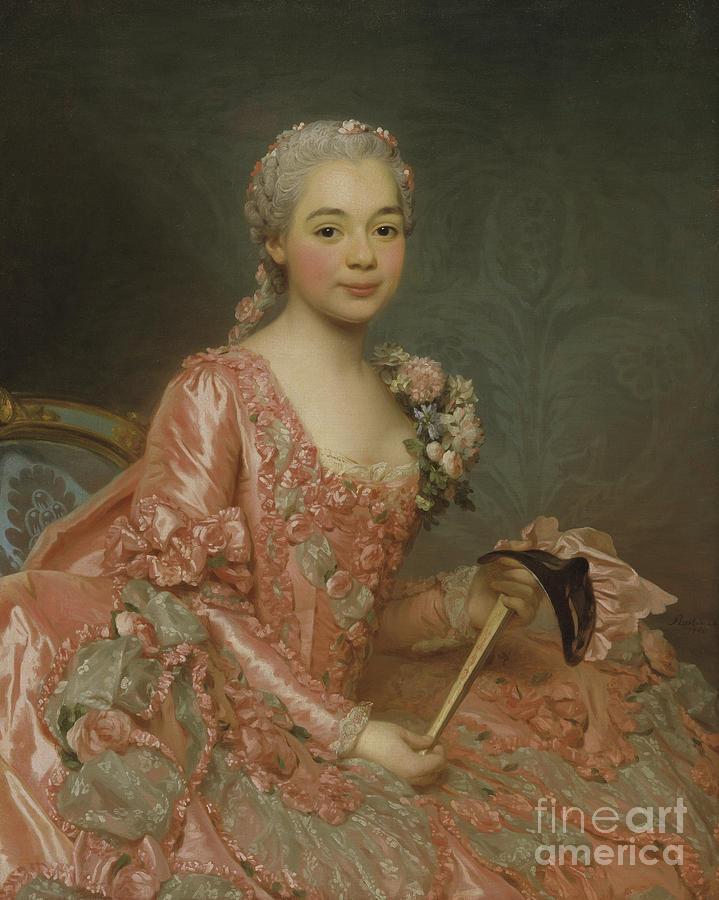Girl Painting - Baroness De Neubourg-cromiere 2 by Alexander Roslin