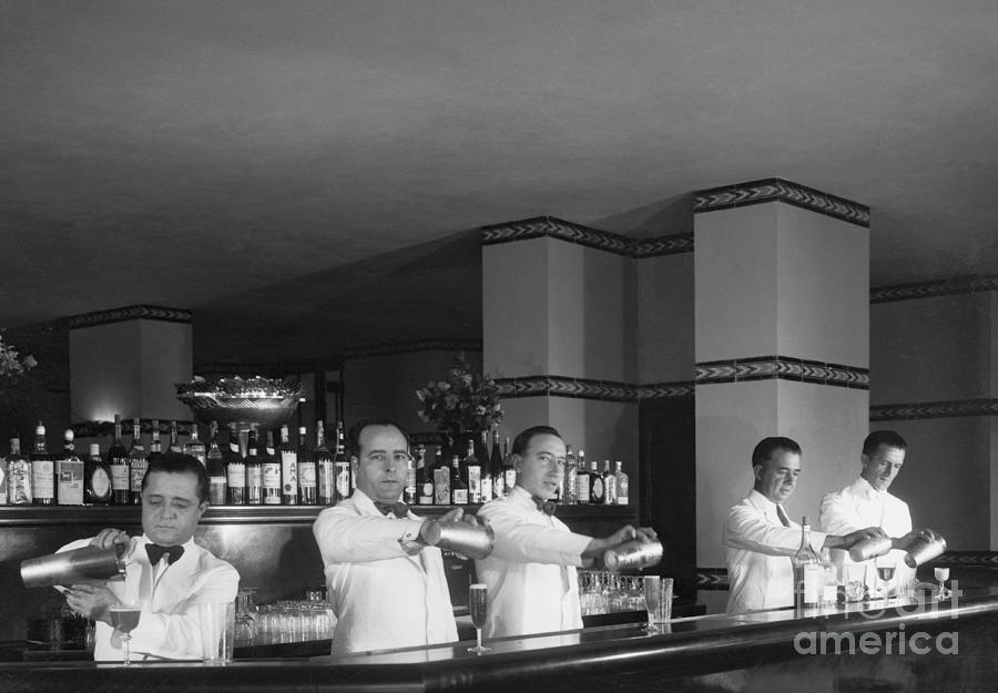 Bartenders Mixing Drinks Photograph by Bettmann