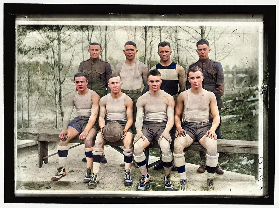 BASEBALL, AMATEUR AND COLLEGE. QUANTICO TEAM 1918 by Celestial Images