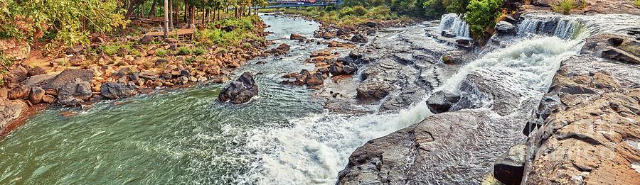 Waterfall Photograph - Beautiful waterfall by MotHaiBaPhoto Prints