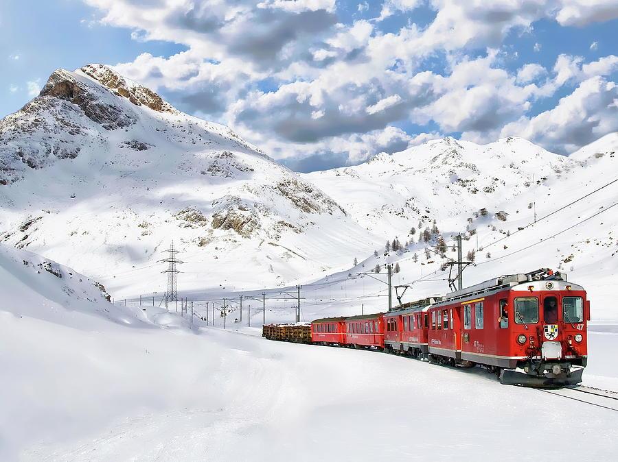 Bernina Winter Express by Anthony Dezenzio