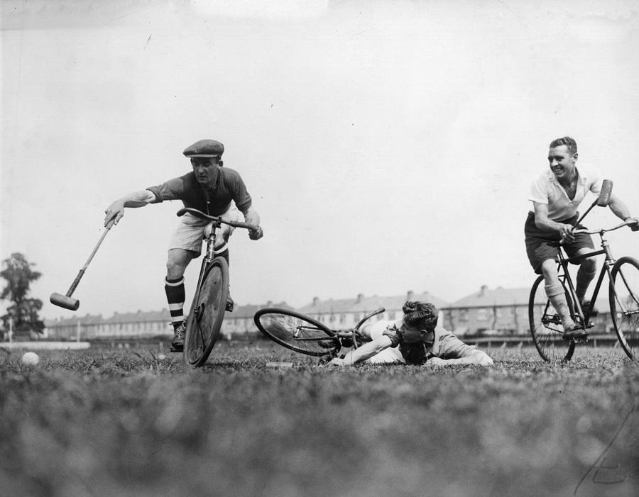 Bicycle Polo Photograph by Fox Photos