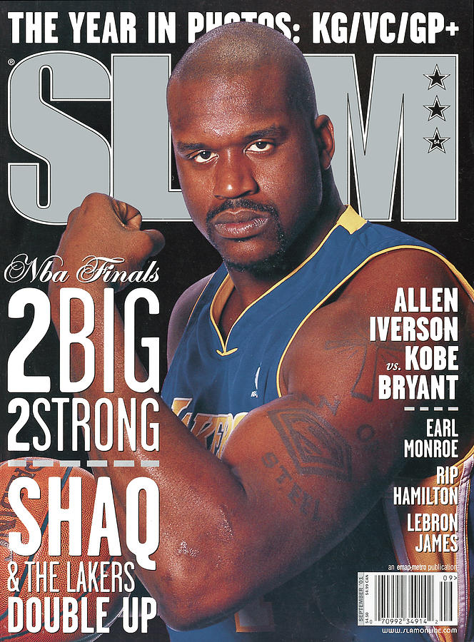 2 Big - 2 Strong: Shaq & The Lakers Double Up SLAM Cover Photograph by Getty Images