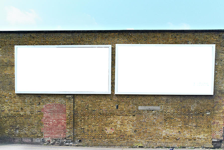 2 Blank Billboards Photograph by Ben Richardson