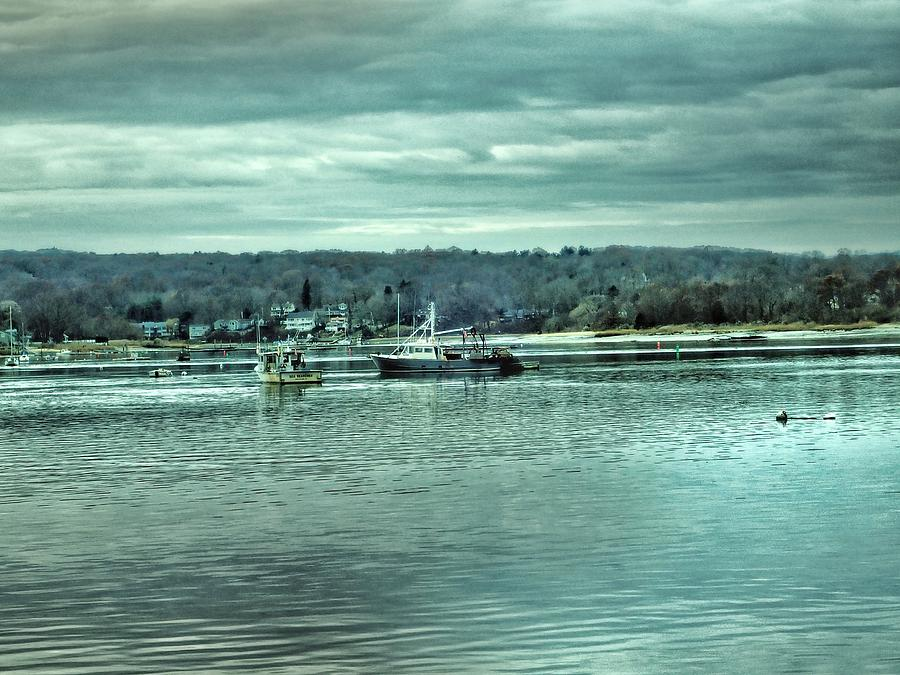 Boats at Northport Harbor by Susan Jensen