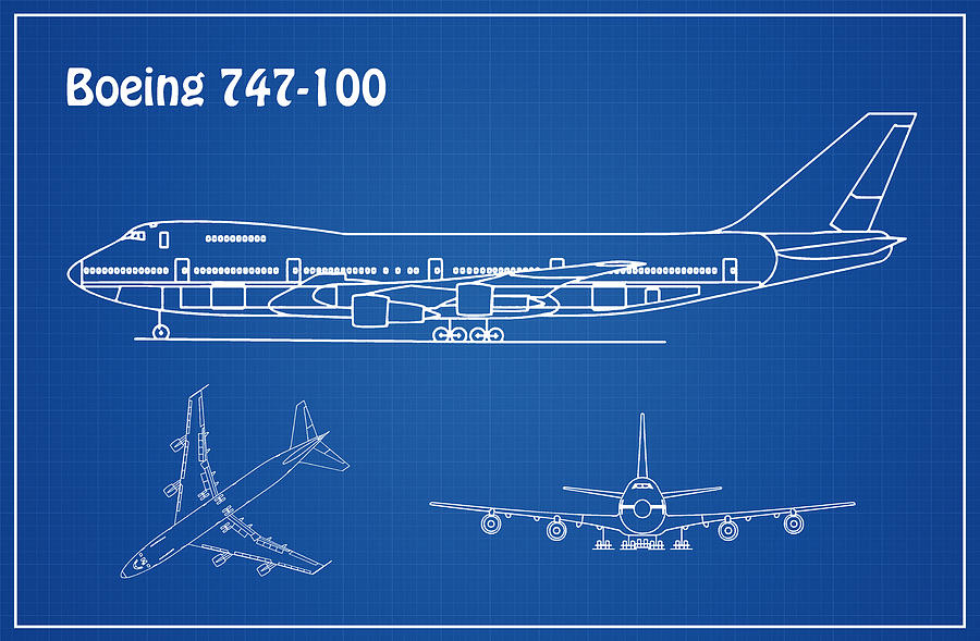 [DIAGRAM_34OR]  Boeing 747 - 100 - Airplane Blueprint. Drawing Plans or Schematics for the  Boeing 747-100 Drawing by StockPhotosArt Com | Airline Schematics |  | Fine Art America
