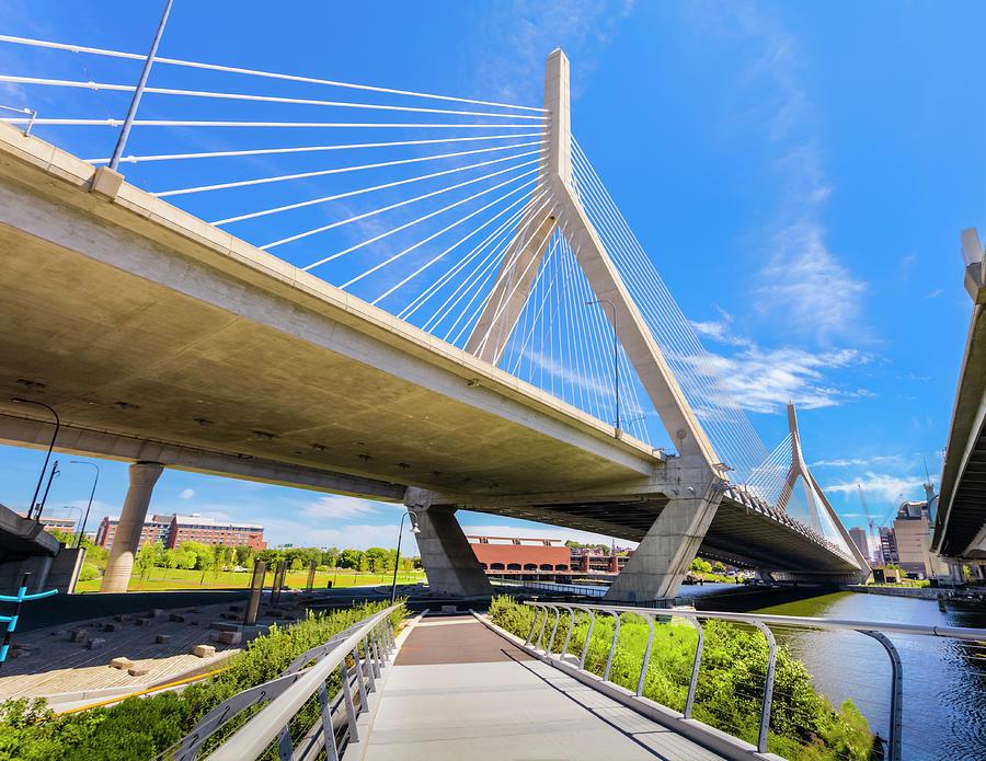 Boston - North Bank Walkway And Zakim Photograph by Drnadig