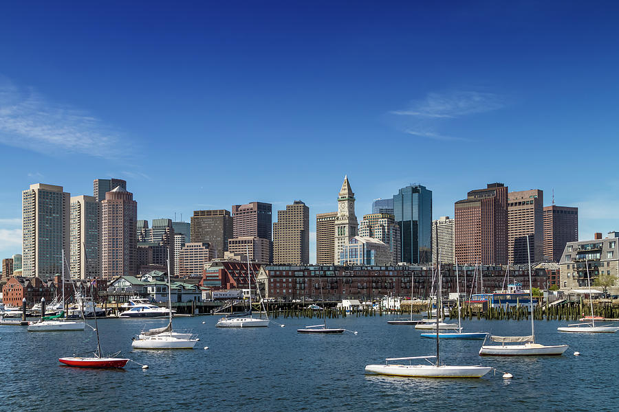 Boston Photograph - Boston Skyline North End And Financial District by Melanie Viola