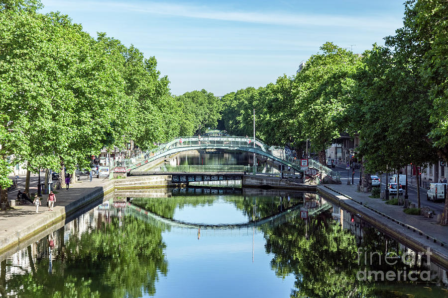 Bridge over the Canal Saint-Martin in Paris by Ulysse Pixel