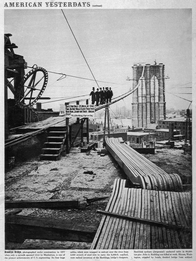 Brooklyn Bridge Photograph by Hulton Archive