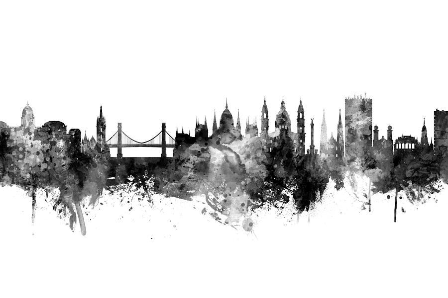 Budapest Hungary Skyline by Michael Tompsett