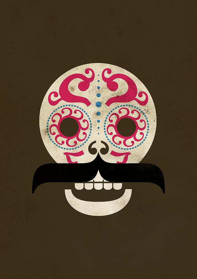 Calaca Digital Art by Marco Recuero