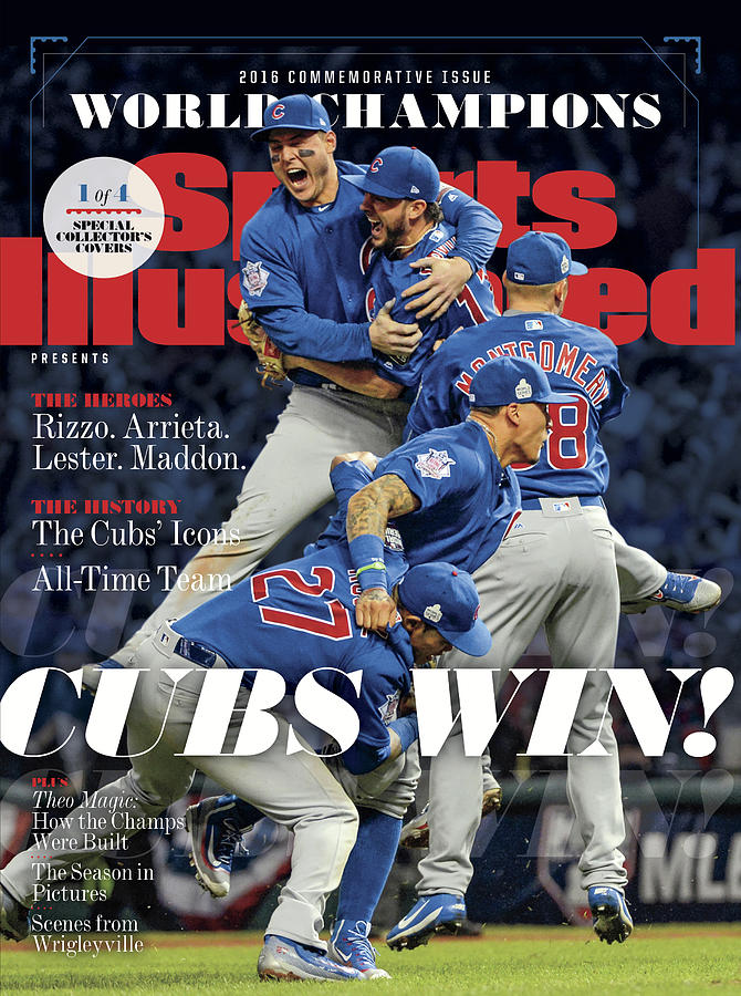 American League Baseball Photograph - Chicago Cubs, 2016 World Series Champions Sports Illustrated Cover by Sports Illustrated