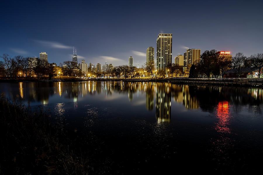 Chicago Skyline at dawn  by Sven Brogren